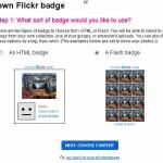 Flickr badge !写真を自分のブログに表示させるパーツ