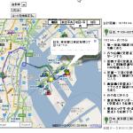 トータルの合計距離+地図から行きたい場所を探して、出発、中継点、到着点を入力クリックしてドライブルート経路検索