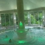 屋外ジャグジーは緑がきれい バーデプールのある-真岡井頭温泉(関東栃木県真岡市)