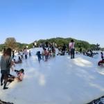 日本一のふわふわドーム「ぽんぽこマウンテン」は本当に大きいか?パノラマ写真でチェック!国営武蔵丘陵森林公園(関東埼玉県東松山)