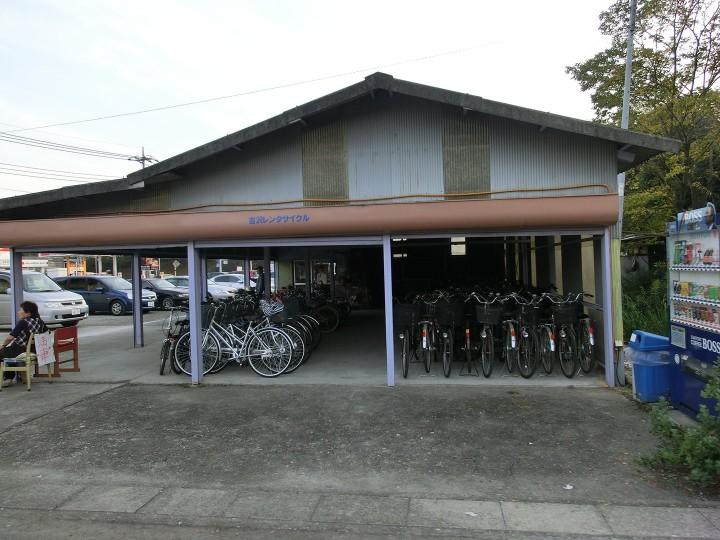 ... 自転車借りれば、駐車場は200円